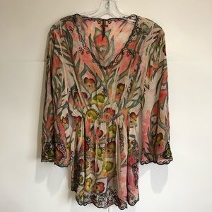 Mushka by Sienna Rose 3/4 Sleeve Embroidery Blouse